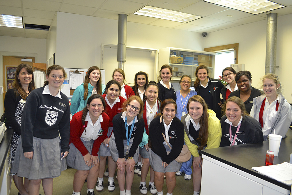 Anatomy Class Visits Coroner\'s Office - St. Mary\'s Dominican High School
