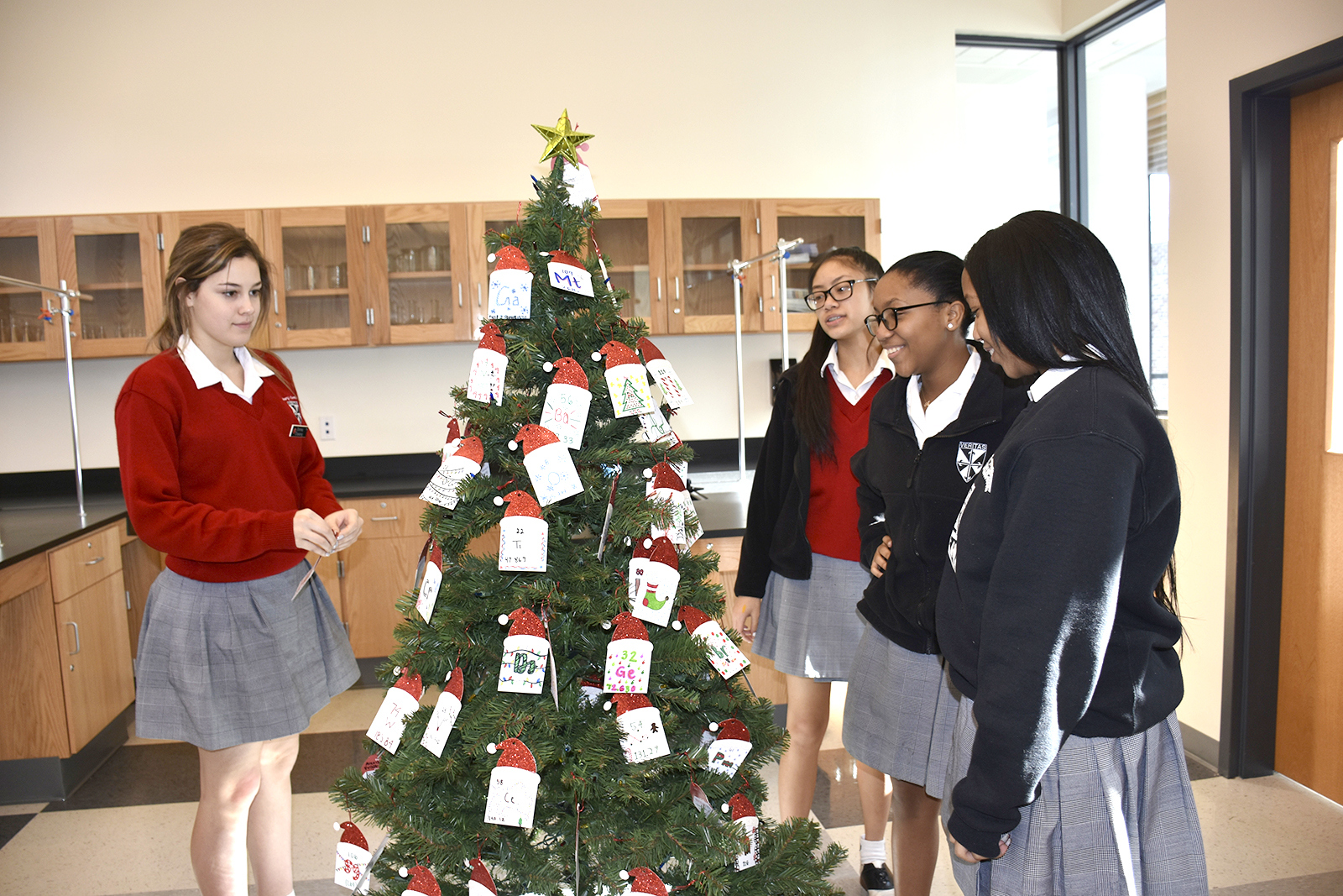 the week started with christmas carols during lunch on monday christmas sweaters and socks attire on tuesday wednesday photos with santa